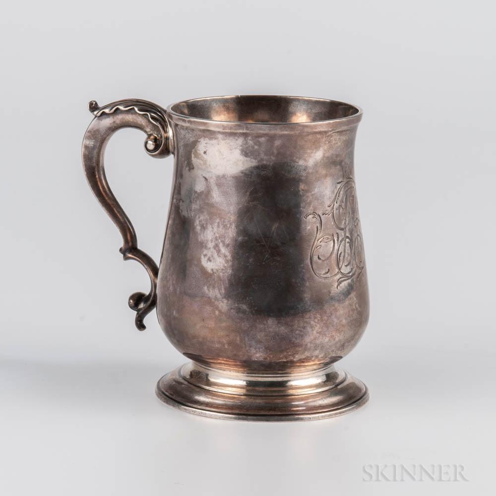 George III Sterling Silver Cann