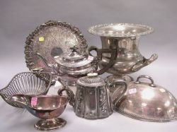 Group of Georgian-style Silver Plated Tableware.