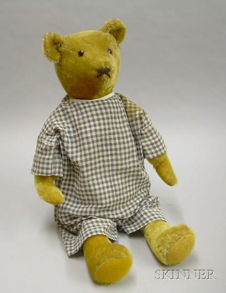 Ideal Blonde Mohair Plush Teddy Bear