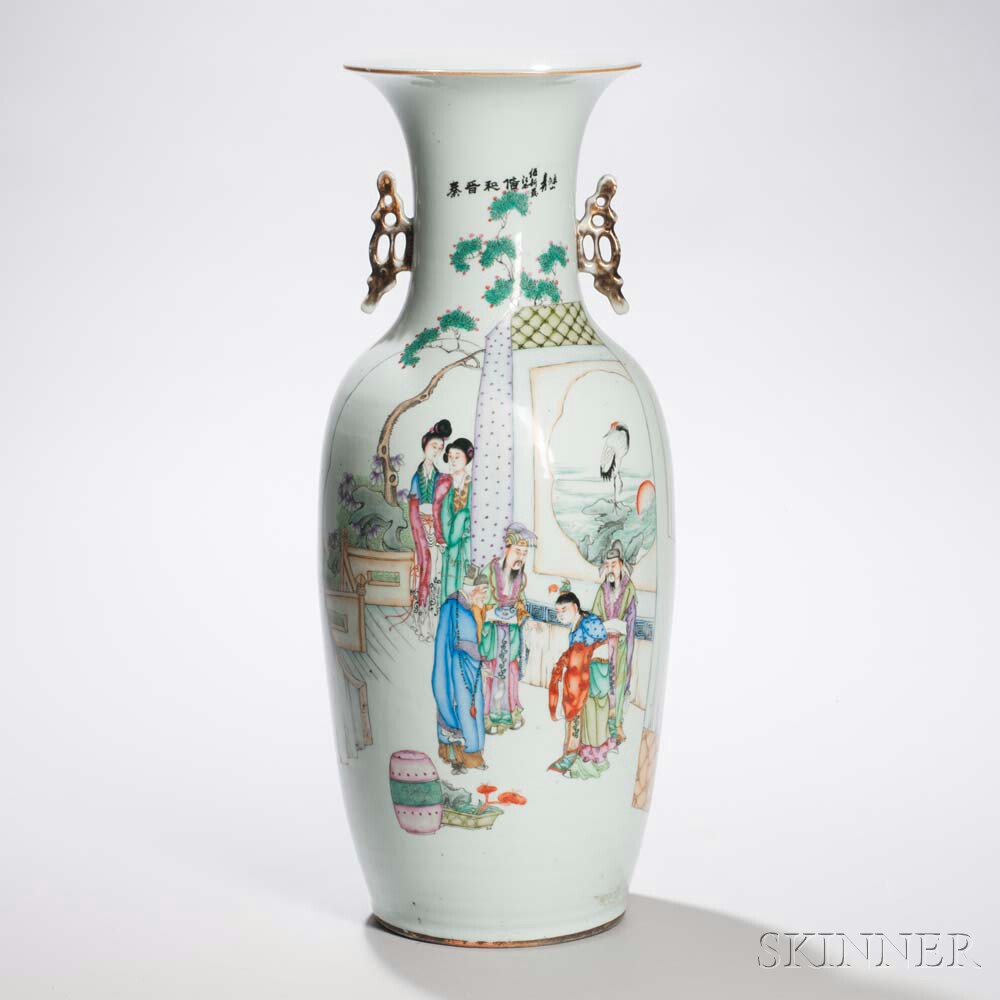 Large Enameled Porcelain Jar