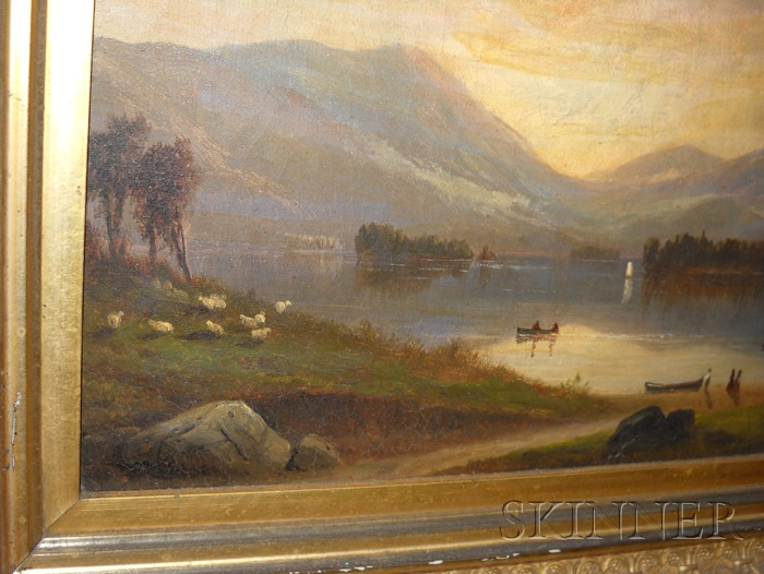 Samuel W. Griggs (American, 1827-1898)      Sunrise at Lake George.
