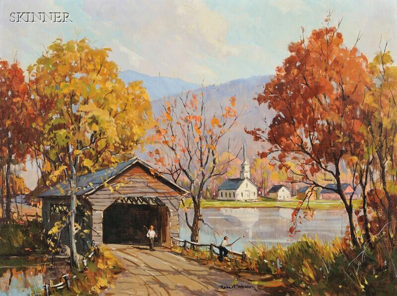 Robert Shaw Wesson (American, 1902-1967)      Fall Fishing