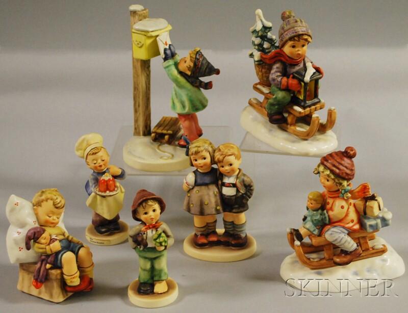 Seven Goebel/Hummel Ceramic Figures