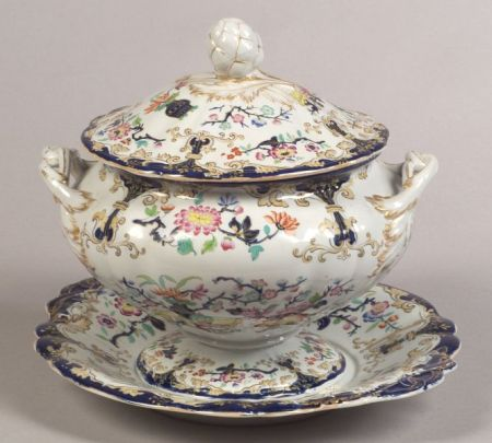 Minton Ironstone Soup Tureen and Stand