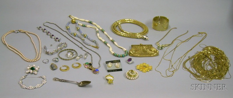 Group of Assorted Vintage to Modern Costume Jewelry and Accessories