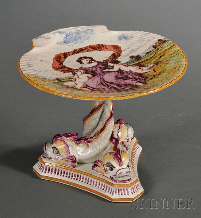 Wedgwood Lessore Decorated Pearl Ware Compote