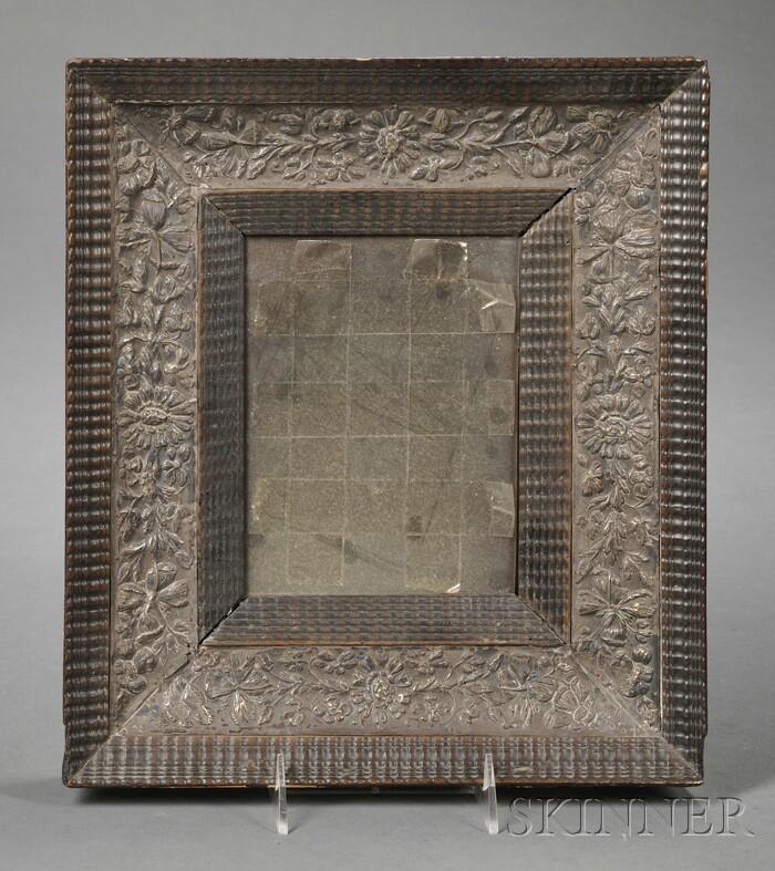 Silver-clad Fruitwood Mirror