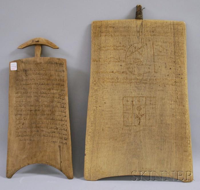 Two Ethiopian Wood Calligraphic Boards.