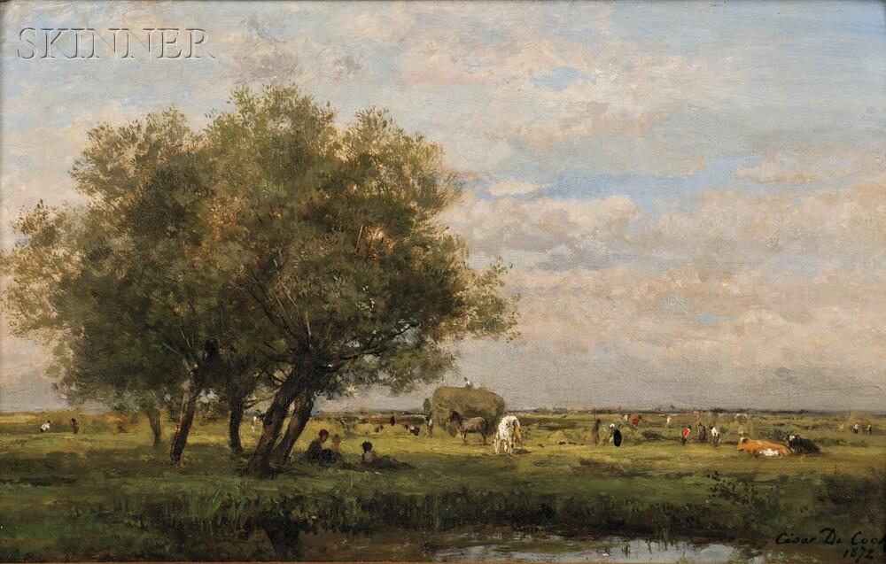 César De Cock (Belgian, 1823-1904)      Spring