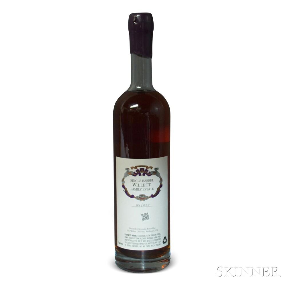 Willett Family Estate Bottled Single Barrel Bourbon 6 Years Old, 1 750ml bottle