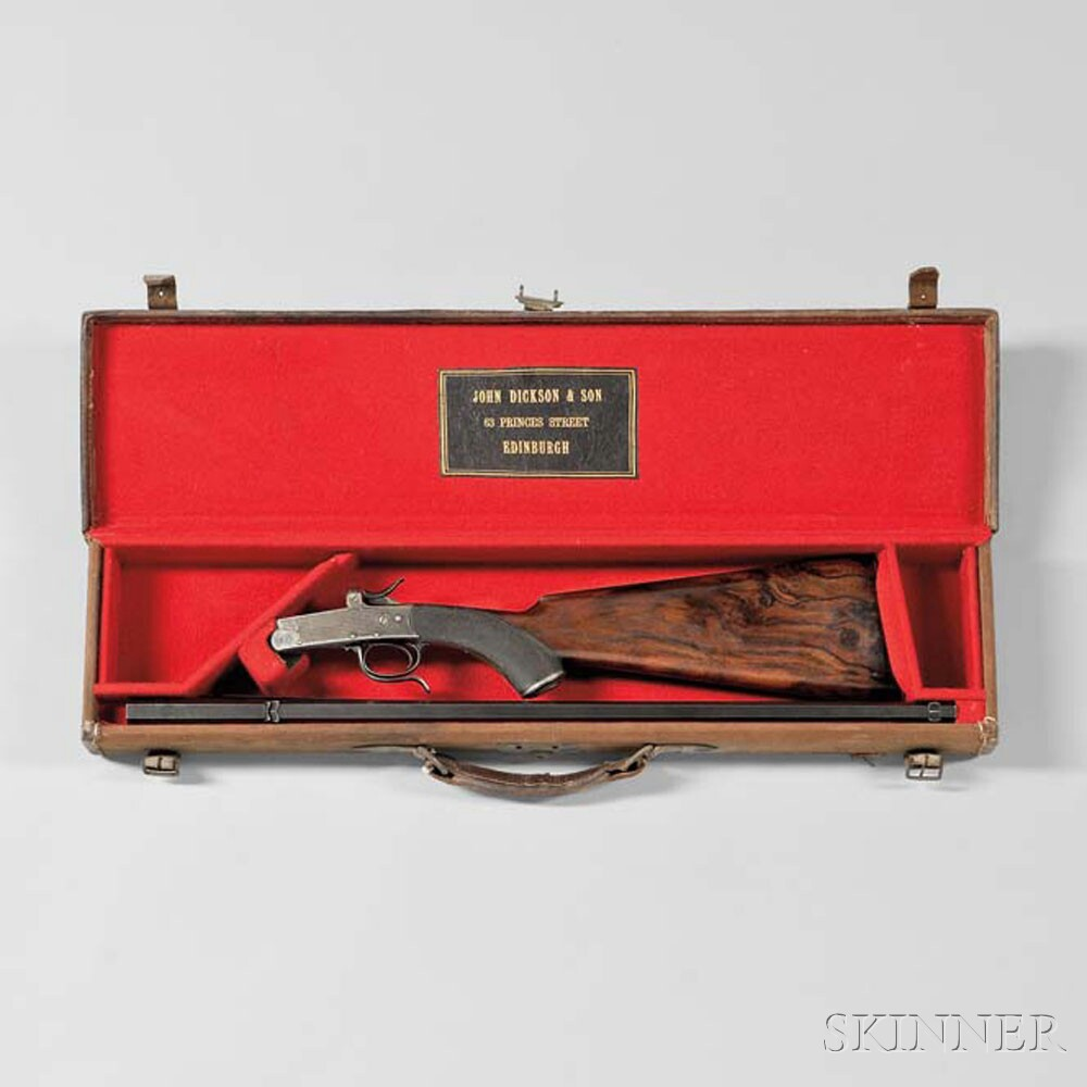John Dickson & Son Rook Rifle in Maker's Case