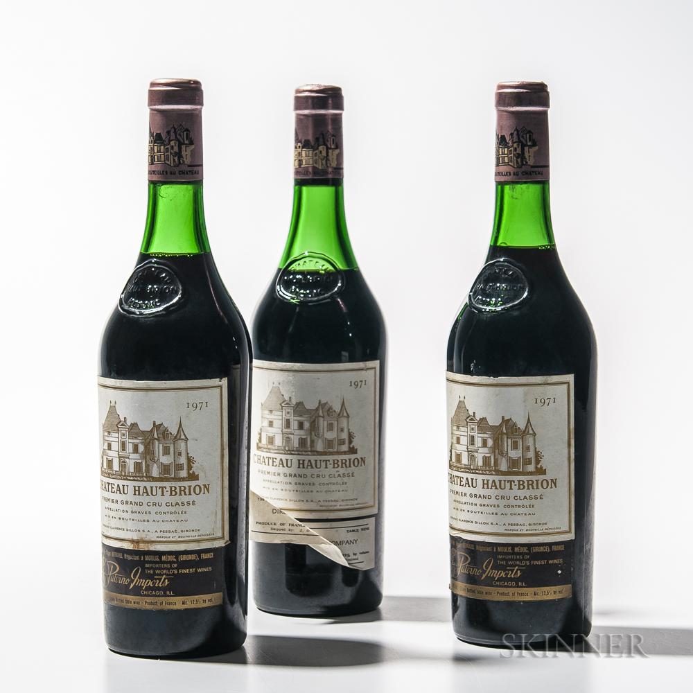 Chateau Haut Brion 1971, 3 bottles