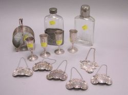 Group of Silver and Metal Cocktail Related Articles.
