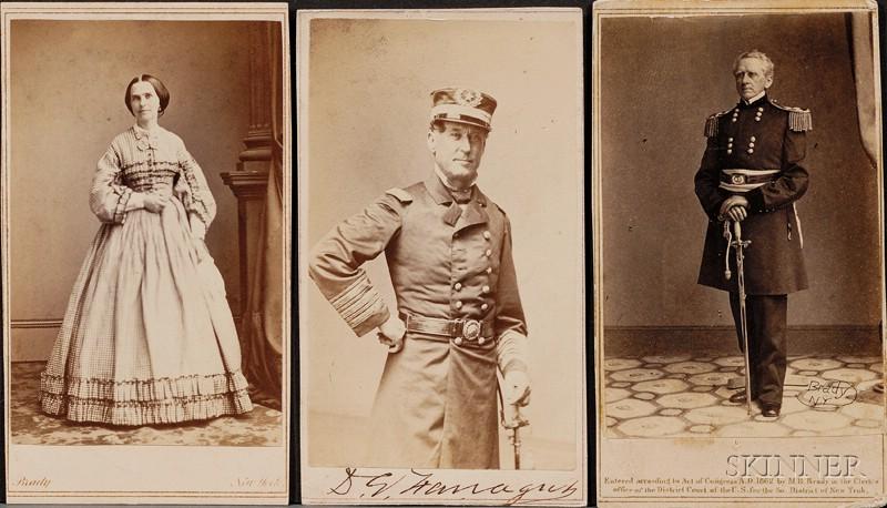 Farragut, David G. (1801-1870), and Farragut, Virginia L.