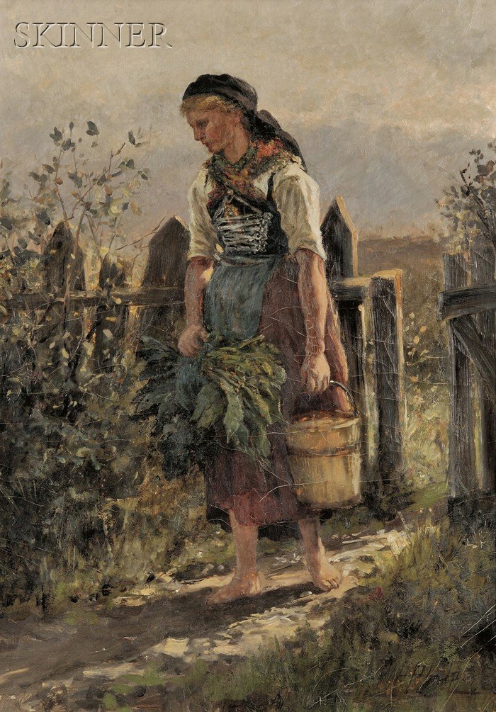 William Preston Phelps (American, 1848-1923)      Fetching Water