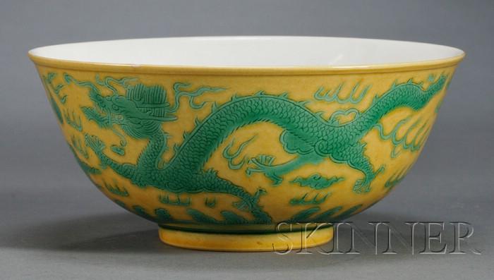 Porcelain Dragon Bowl