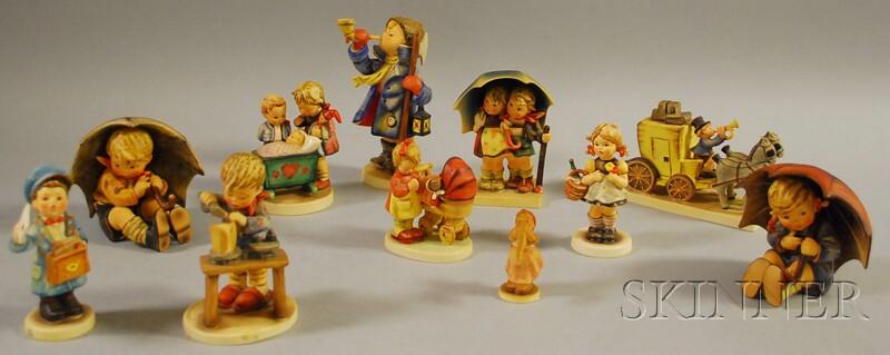 Eleven Goebel/Hummel Ceramic Figures