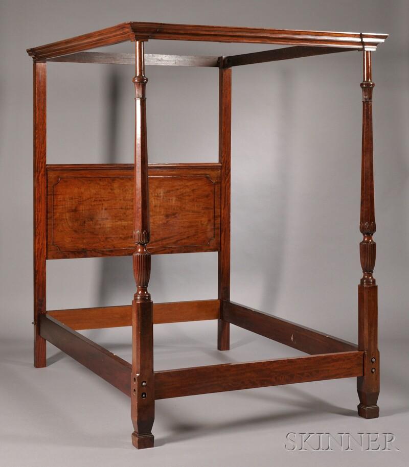mahogany tester bed sale number 2615b lot number 650. Black Bedroom Furniture Sets. Home Design Ideas