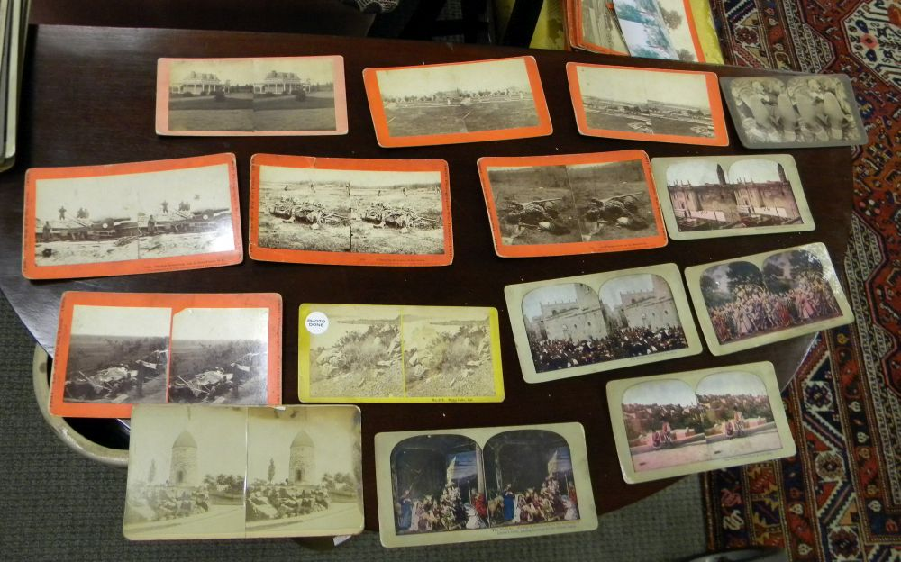 Group of Stereoview Cards and Two Stereo Viewers