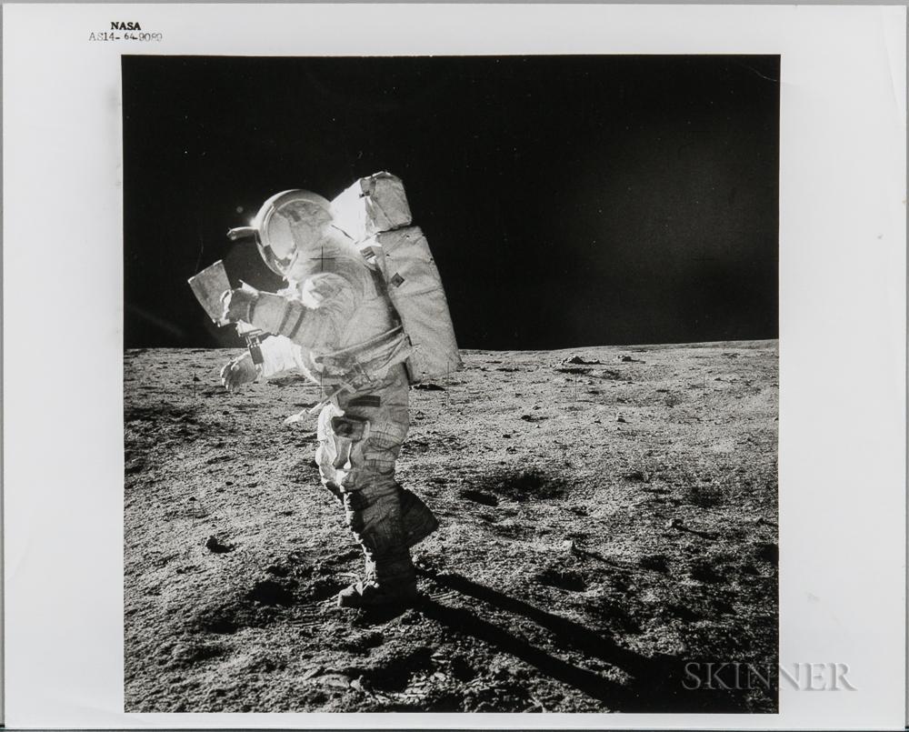 Apollo 14, Edgar Mitchell on the Moon, February 5-6, 1971.