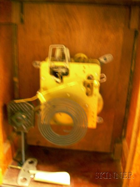 Burl Walnut Veneered Bracket Clock