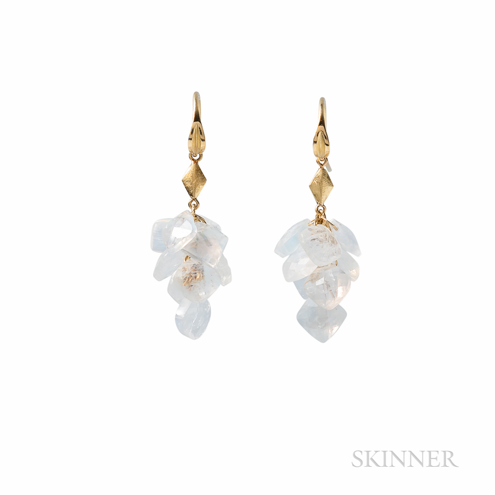 Barbara Heinrich 18kt Gold and Moonstone Earrings