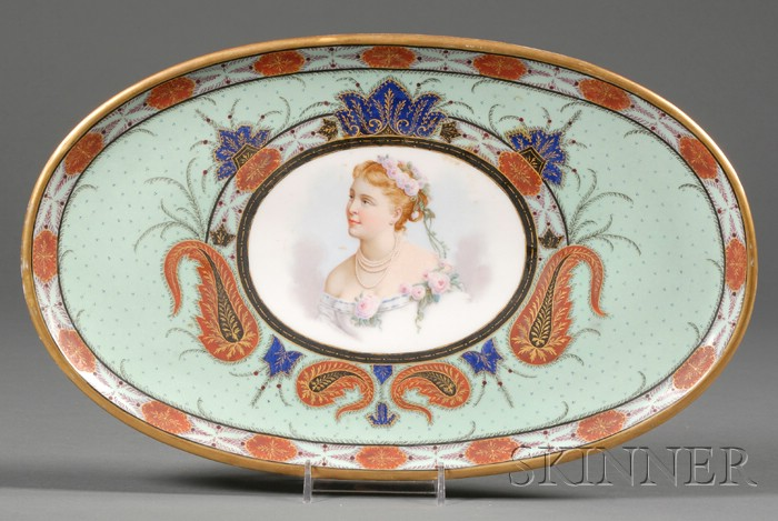 French Handpainted Porcelain Platter