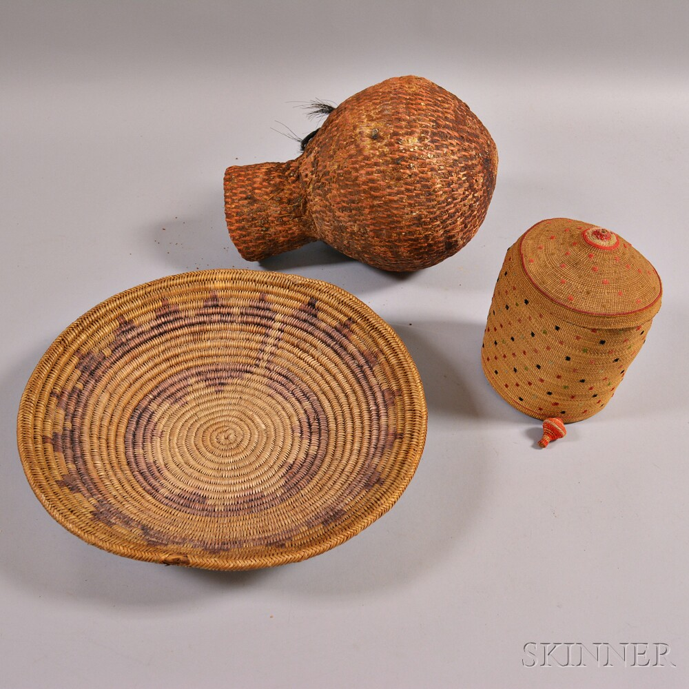 Three American Indian Baskets