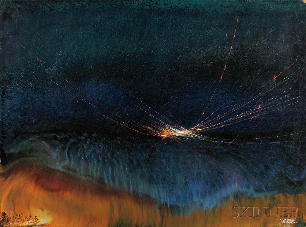 Leonardo Nierman (Mexican, b. 1932)      Wind of Illusion