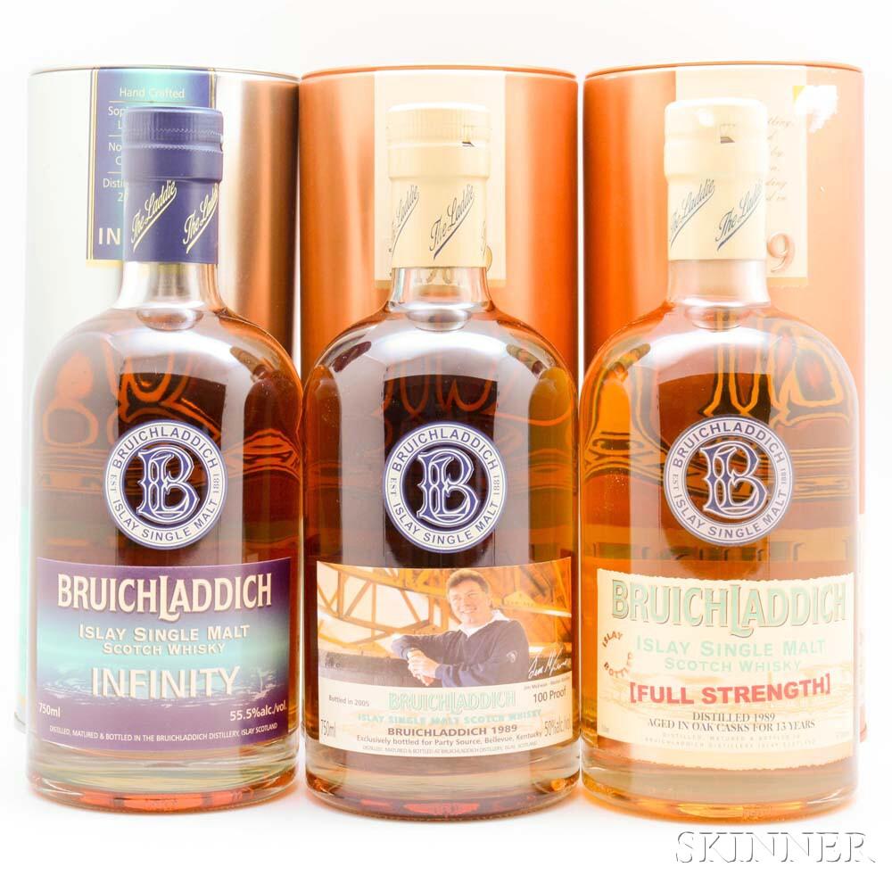 Bruichladdich, 3 bottles