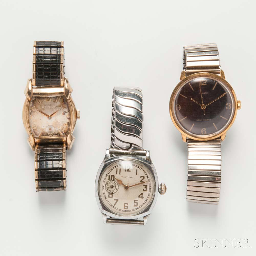 Three Vintage Men's Wristwatches