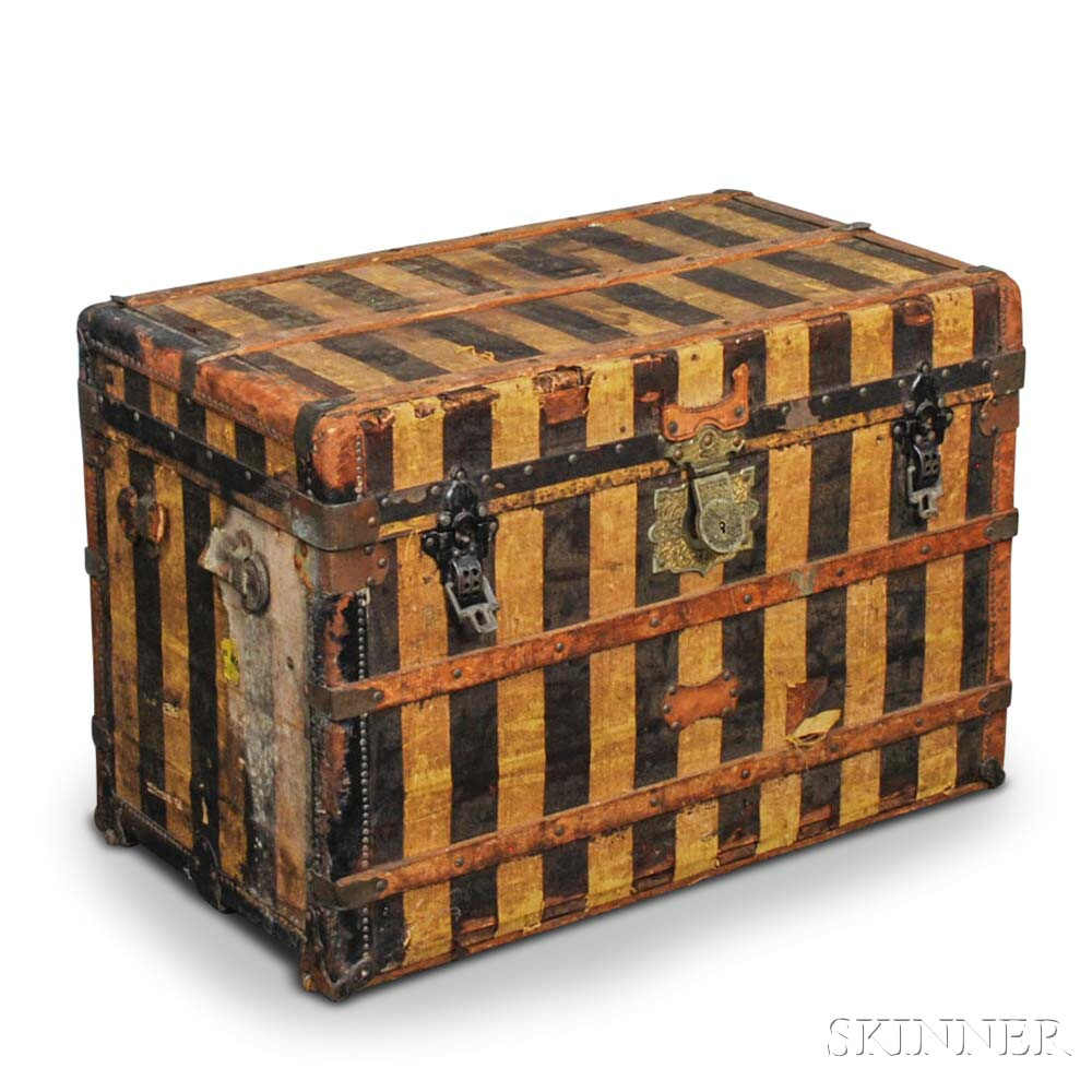 Nathan Neat & Co. Striped Canvas Trunk