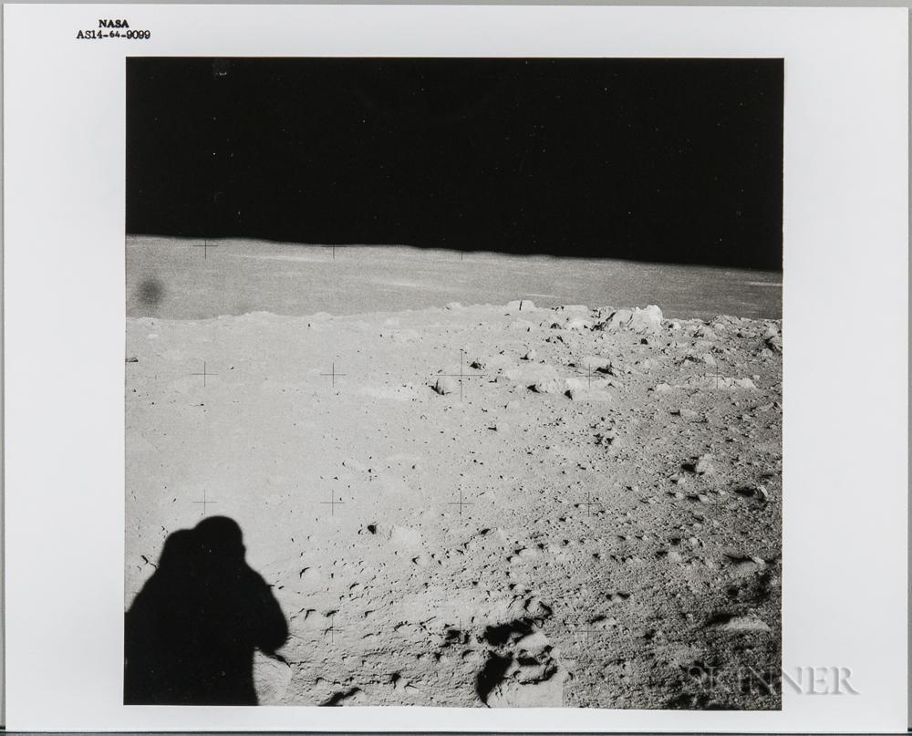 Apollo 14, Cone Crater, February 6, 1971.