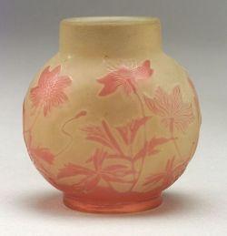 Galle Cameo Art Glass Vase