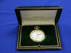 Waltham Colonial 14kt Gold Cased Openface Pocket Watch
