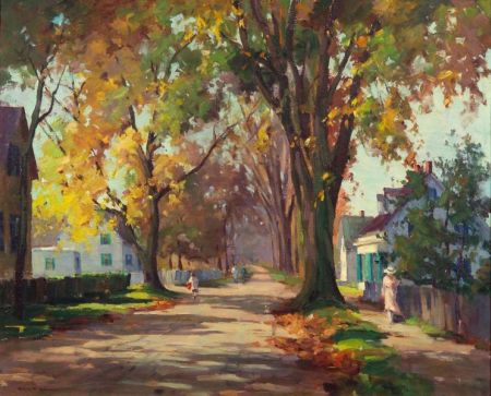 Marian Parkhurst Webber Waitt Sloane (American, 1876-1954)    A Village Street