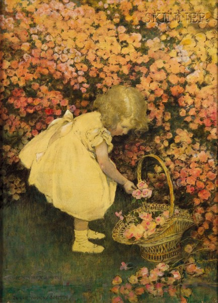Jessie Willcox Smith (American, 1863-1935)      Rosebuds