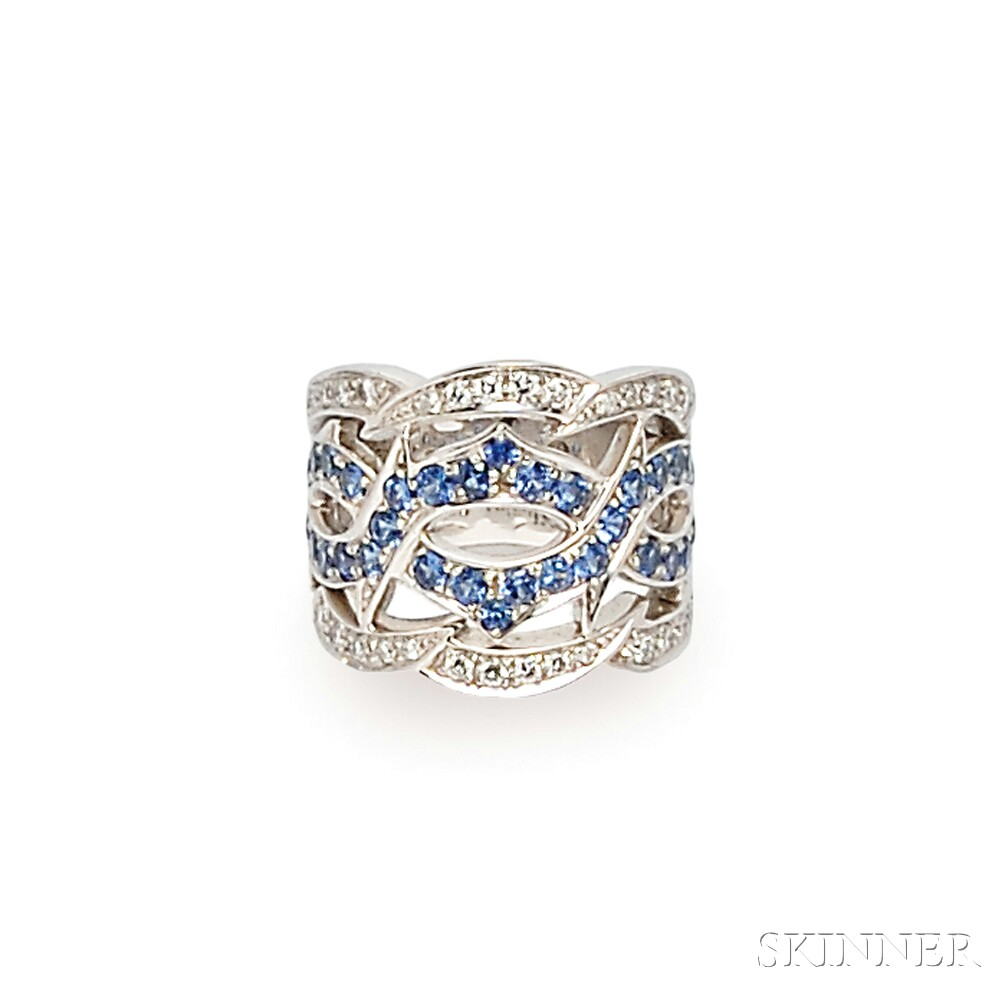 18kt White Gold, Sapphire, and Diamond Ring, Stephen Webster
