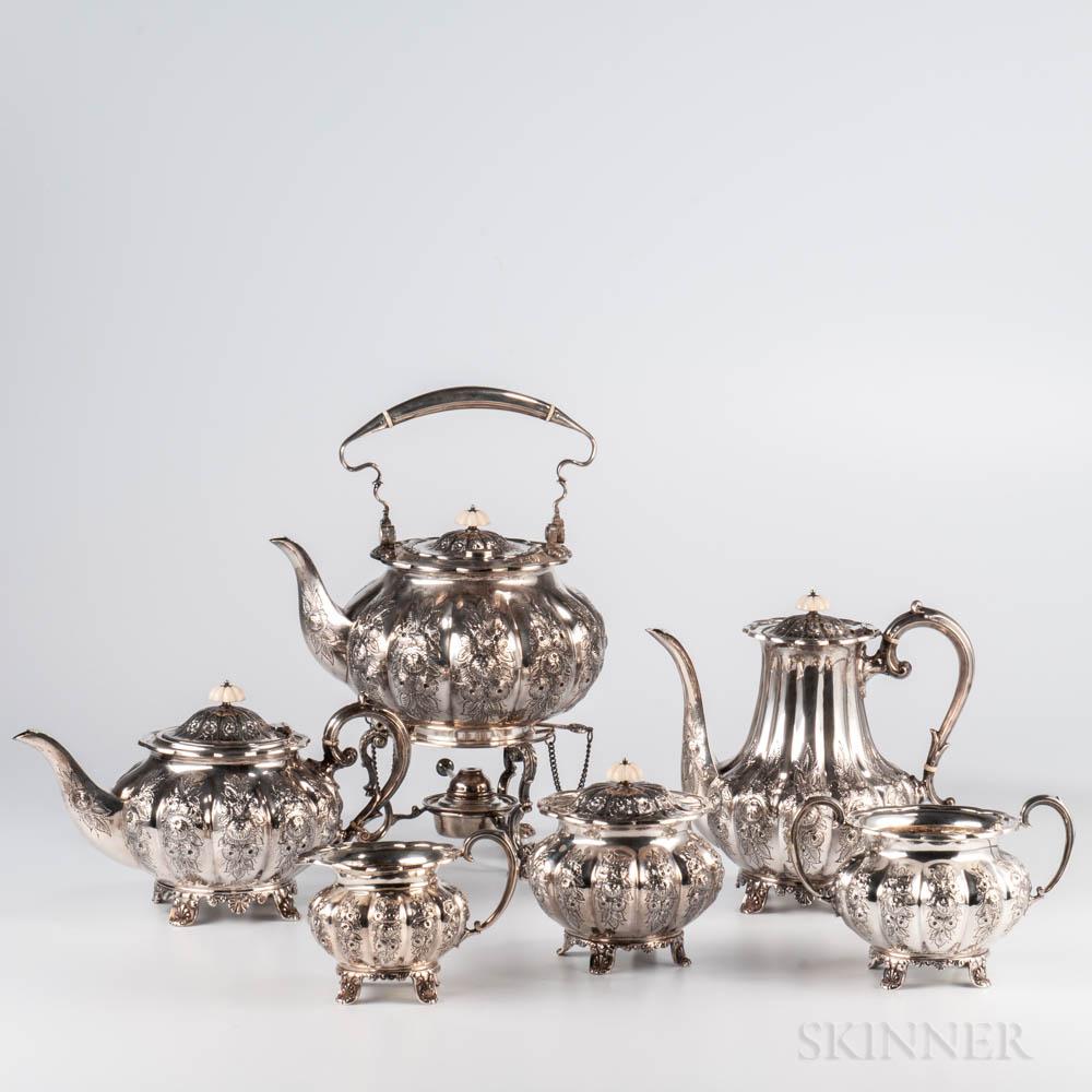 Six-piece Elizabeth II Sterling Silver Tea and Coffee Service