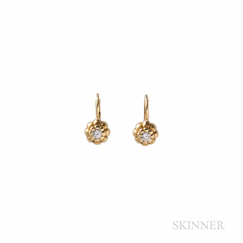 De Merini 18kt Gold and Diamond Earrings