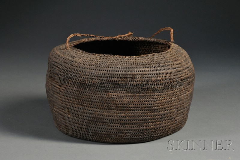 Polynesian Coiled Basketry Bowl