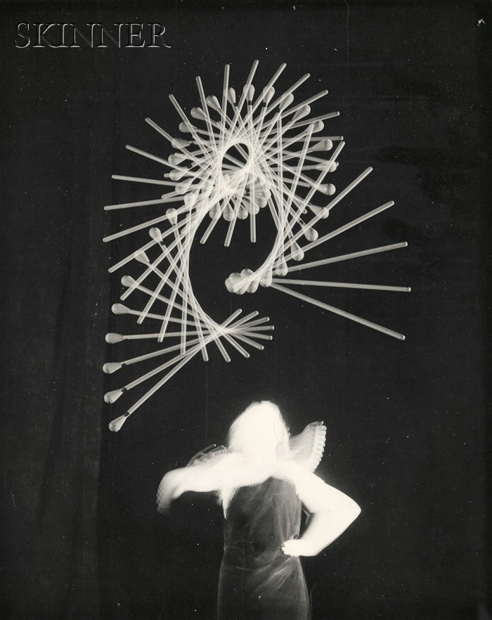 Harold Eugene Edgerton (American, 1903-1990)      Lot of Two Images of a Majorette Throwing a Baton.