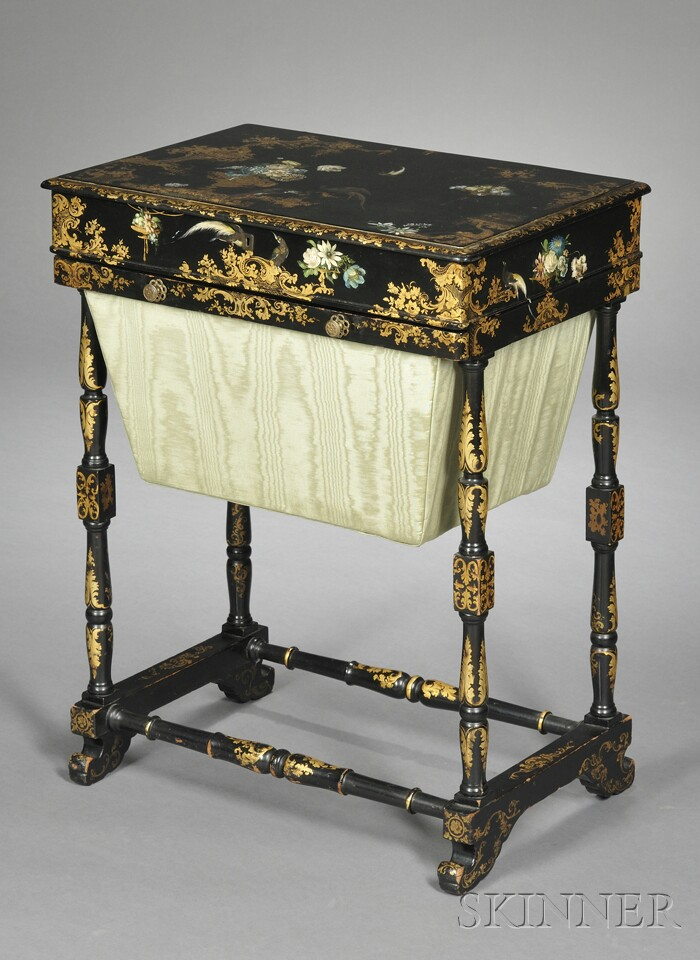 Victorian Papier-mache Work Table