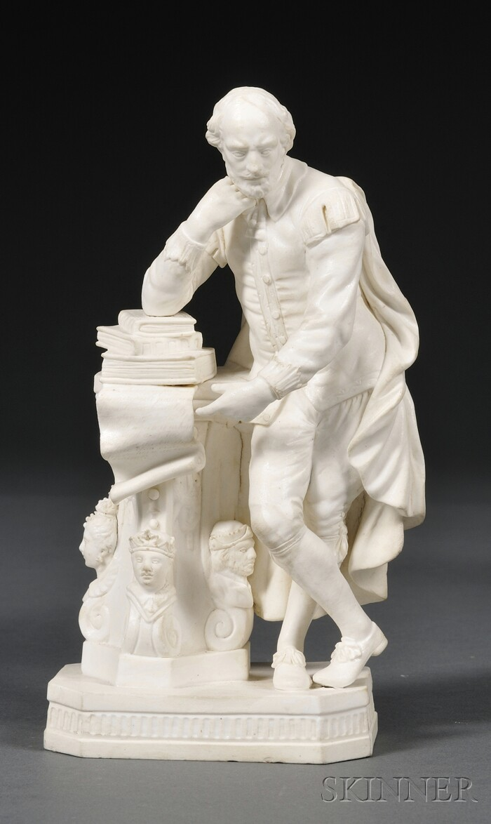 Derby Bisque Figure of Shakespeare