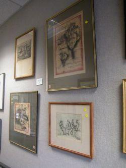 Lot of Four Framed Modern Prints