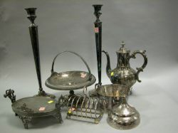 Group of Victorian Silver Plated Tableware.