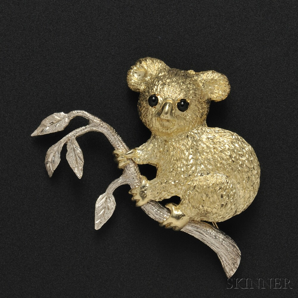 Cellino 18kt Bicolor Gold Koala Brooch