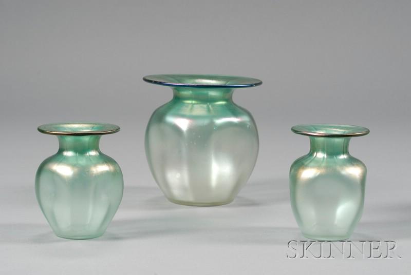 Three Kew Blas Vases