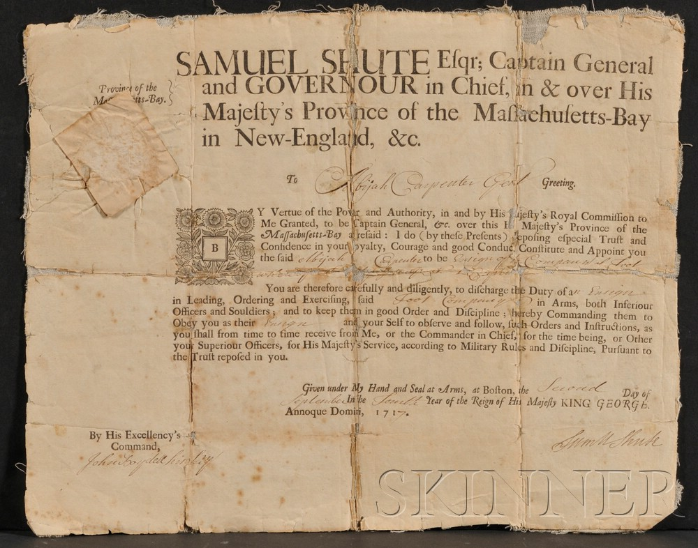 (Colonial Massachusetts), Shute, Samuel (1662-1742)
