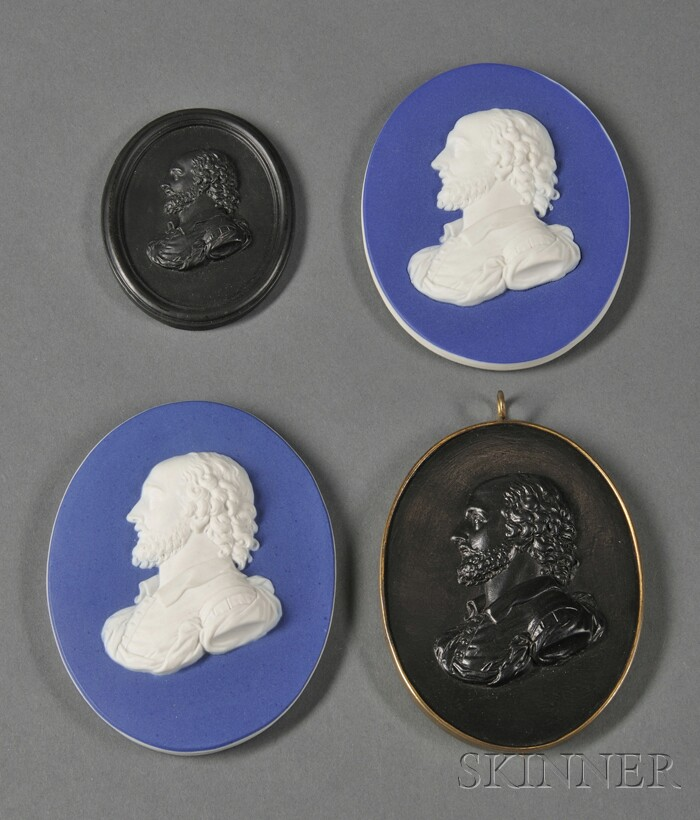 Four Wedgwood Portrait Medallions of Shakespeare
